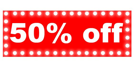 50% OFF Weekly Specials! (Mon July 6 - Sat July 11)