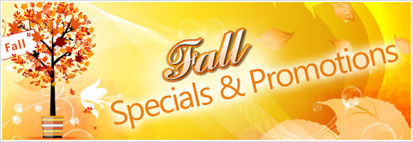 Buy 3, Get 1 Free Fall Web Specials from Sept 1st to Oct 31st!